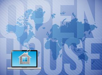 open house world map illustration