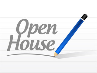 open house message sign illustration