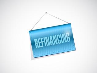 refinancing hanging banner sign