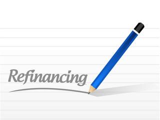 refinancing message sign illustration