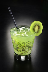 Kiwi drink with ice