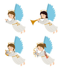 Angel design, vector illustration.