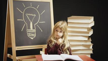 Little girl school idea question answer