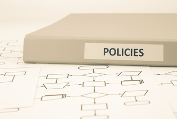 Business policies and procedures, sepia tone