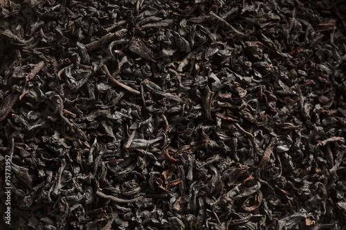 Foto op Canvas Koffie Dry Black Loose Leaf Tea