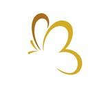 Fototapety butterfly logo template v.9
