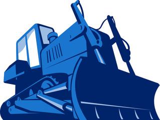 Bulldozer Front Retro