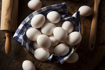 Raw Organic White Eggs