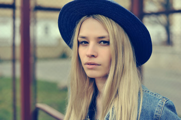 Beautiful hipster girl