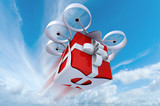 Drone flying present in the sky