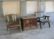 table and old style chairs set