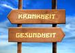 canvas print picture - Strassenschild 29 - Gesundheit