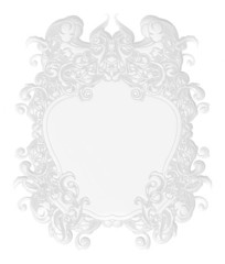 3D luxury labels in white on white background