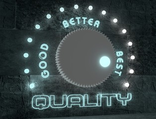 adjust quality from good to best