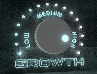 growth adjust regulator from low to high