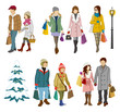 Shopping people winter, Young Adults