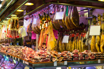 Meat at the european  market