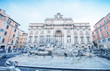 Rome, Itay. Trevi fountain with maintenance works