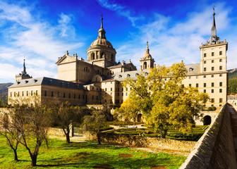 El Escorial.  Royal Palace in sunny day