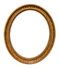 Oval picture gilded frame