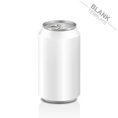 blank aluminum drink can