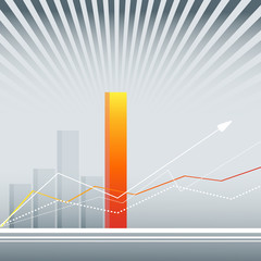 background with bar graphs