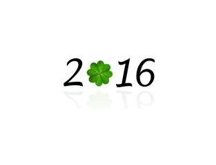 2016 mit Glücksklee