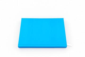Blue diary book.