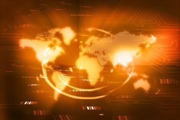 Digital world , global internet technology