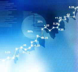 Stock Market Chart, graph.