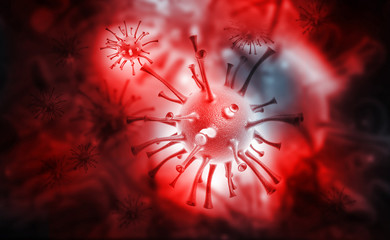 3d render of virus..