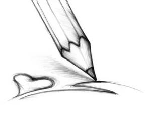 Zeichenstift mit Herz