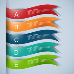 Infographics ribbons vector design template