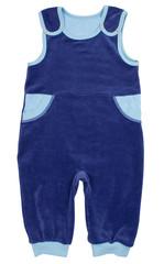 Child bodysuit isolated on white background.