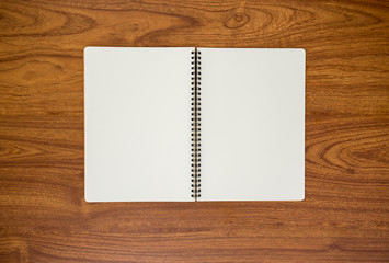 Diary on wood background