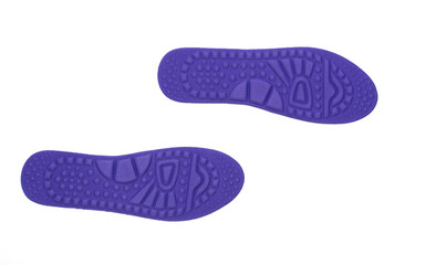 hygienic insoles for the shoes isolated on white