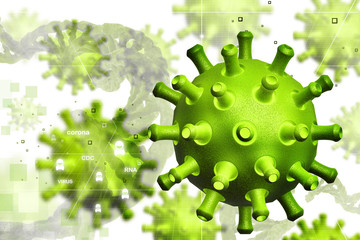 Digital illustration of virus