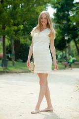 Full length of pregnancy woman