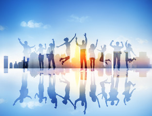 Business People Celebration Team Success Concept