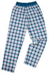 Checkered pijama sweatpants isolated on white