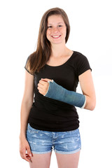 Girl broken arm
