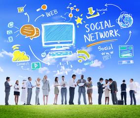 Social Network Social Media Business Communication Concept
