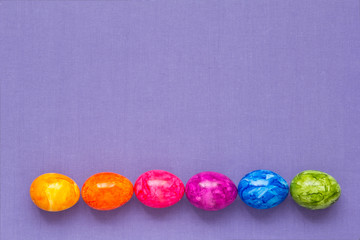 Easter Eggs rainbow colours lilac