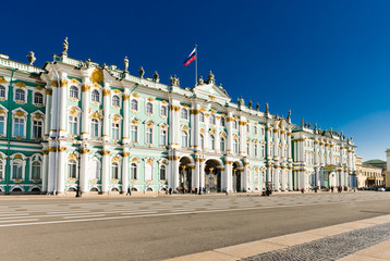 Winter Palace, Hermitage museum in Saint Petersburg, Russia