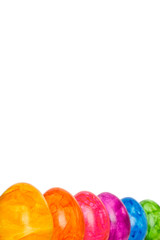 Rainbow Easter Eggs isolated copyspace