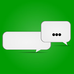 conversational icons on a green background