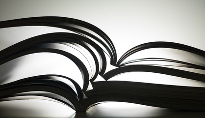 magazines with bending pages