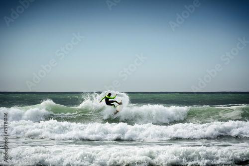 Spoed canvasdoek 2cm dik Water Motorsp. Surfer