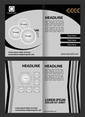 Black and white brochure template