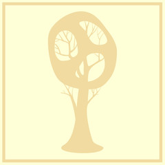 A simple graphic tree. Tree vector design